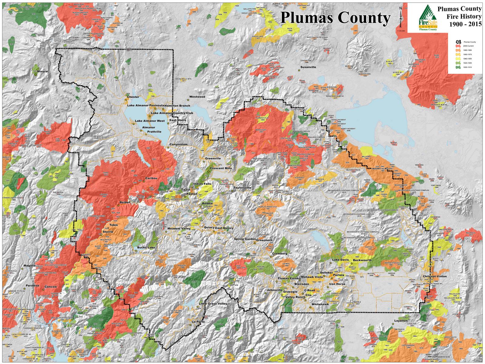 Maps Plumas County Fire Safe Council